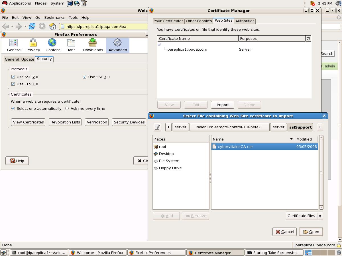 配置 selenium rc for HTTPS 测试 - wolfgangkiefer - 嘎嘎阅读器